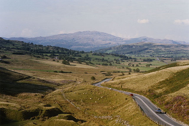 The A487 east of Cadair Idris