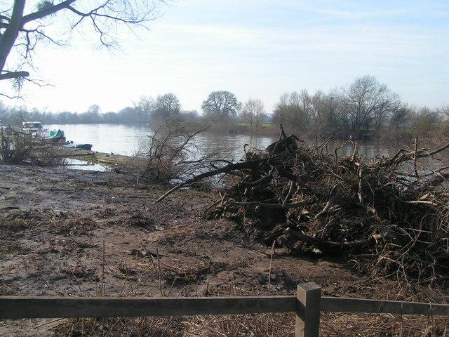 Flood damage at Apperley