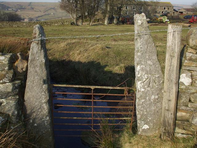 Benchmarked Gatepost