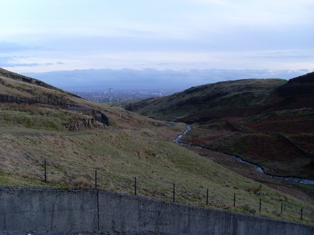 View back along valley of Loch Humphrey Burn