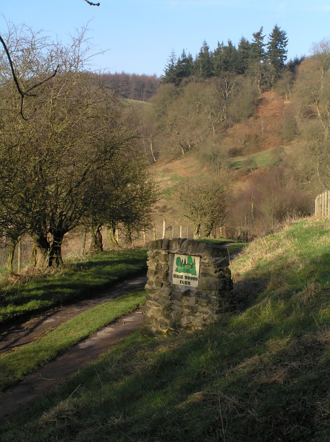 The entrance to High Woods Farm