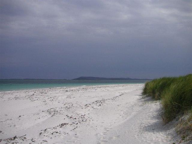 White sand on Berneray