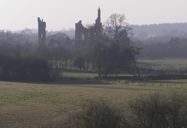 Byland Abbey as seen from the Ampleforth road