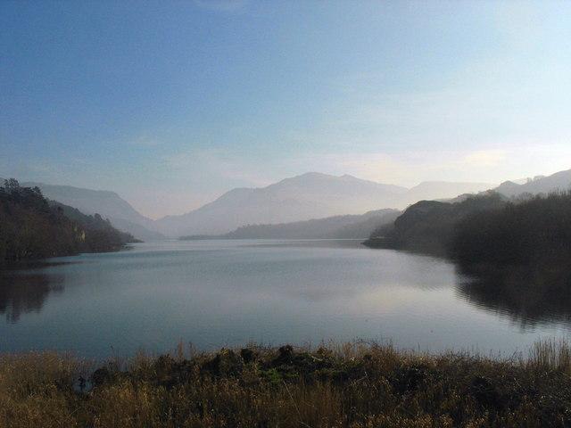 Llyn Padarn as the mist finally disperses