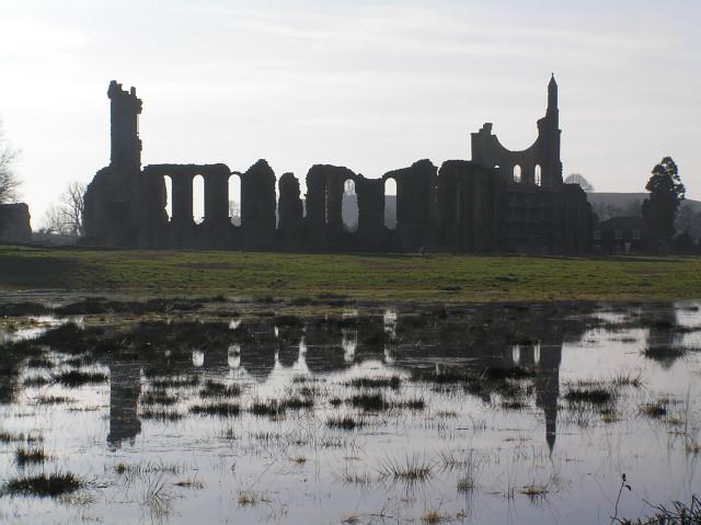 Flooded field near Byland Abbey
