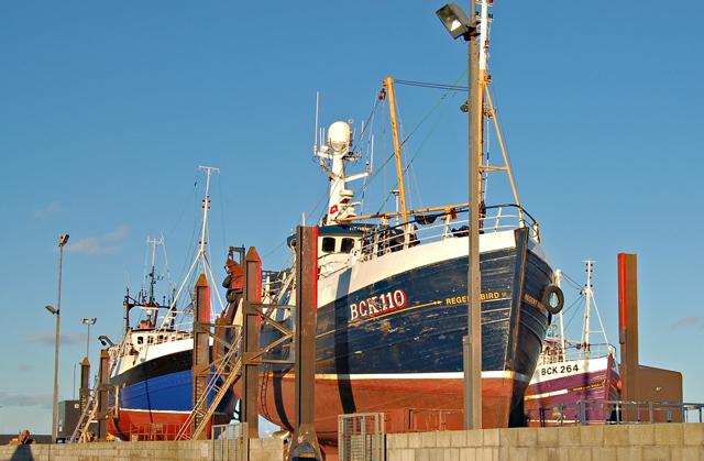 Boat painters' yard in Fraserburgh