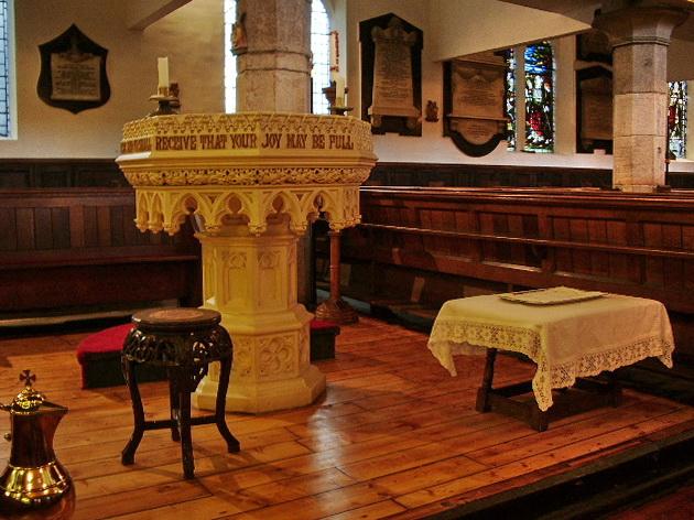 Parish Church of St Nicholas with St John & St Michael, Newchurch, Font