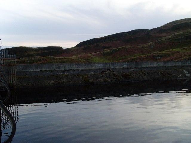 Dam and hills
