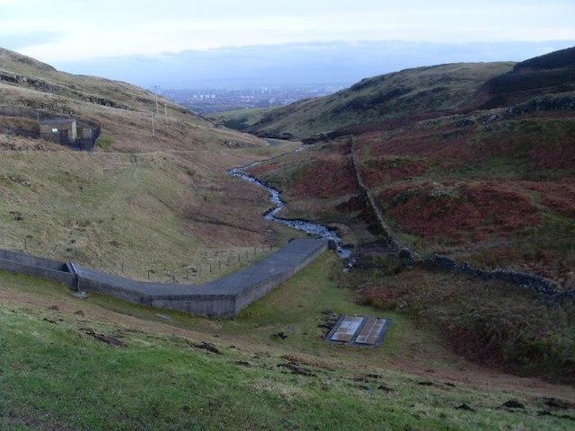 View down valley of Loch Humphrey Burn