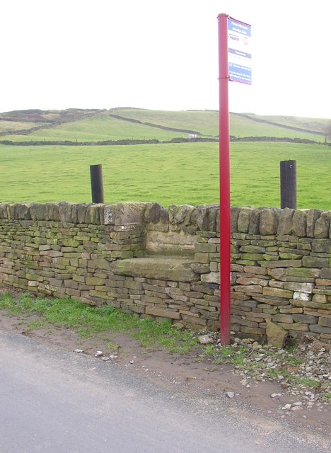 Seat by the bus stop, Forest Hill Road, Stainland