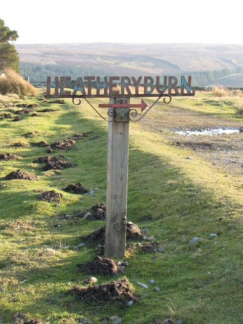 Sign to Heatheryburn