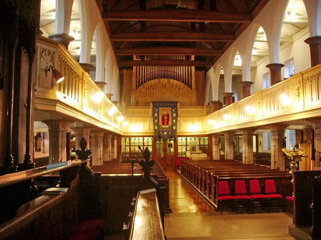 Parish Church of St Nicholas with St John & St Michael, Newchurch, Interior