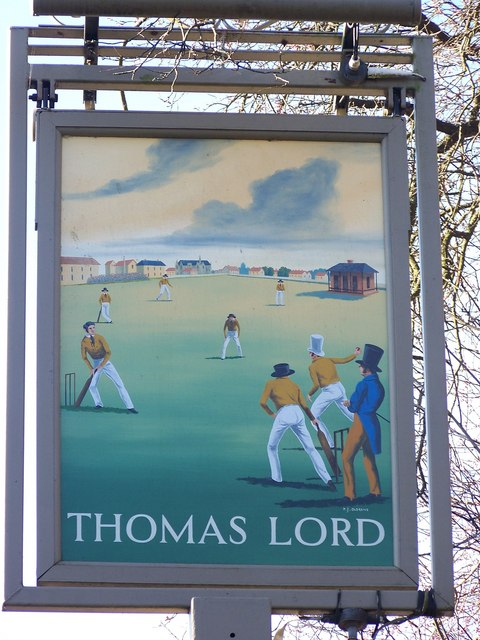 Sign for the Thomas Lord, West Meon