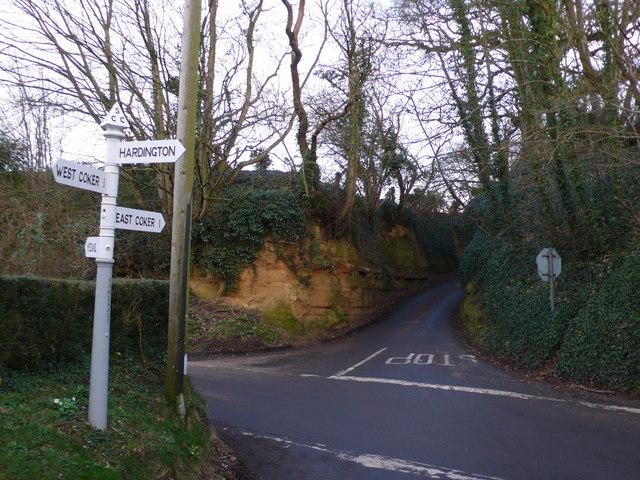 Holloway between East and West Coker, Somerset