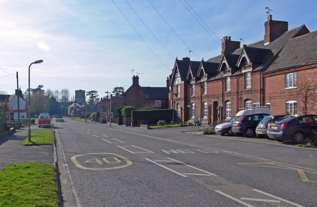 Twycross Road in Sheepy Magna, Leicestershire