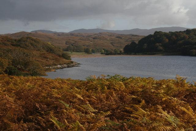 Loch Arienas from Allt Leacach
