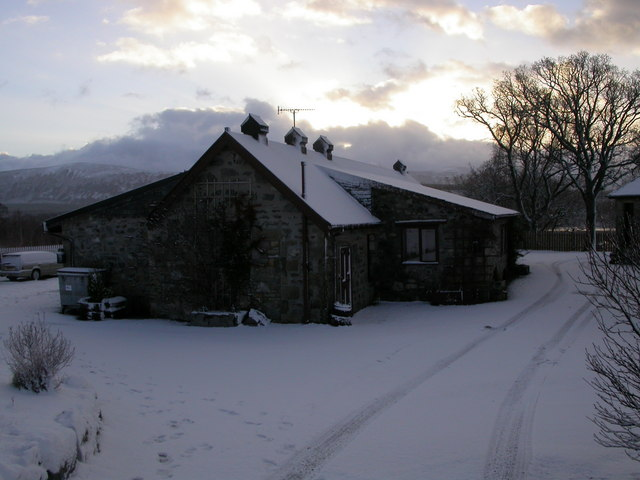 Meadowside in snow