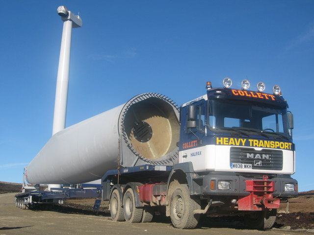 Turbine blade delivery to Scout Moor