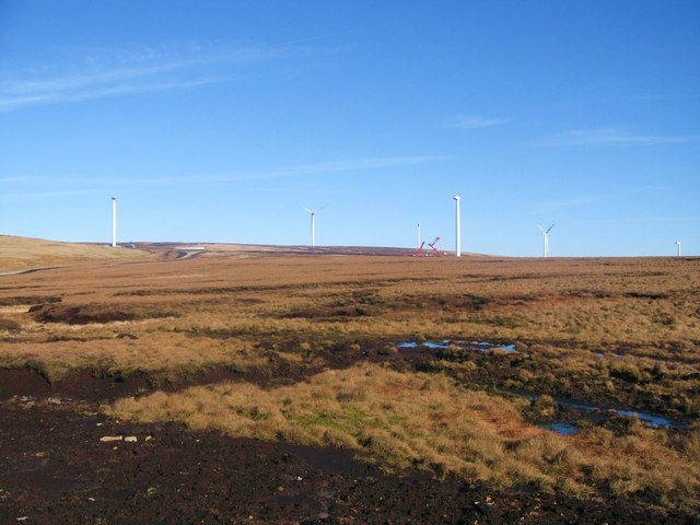 The first Six Turbine Towers on Scout Moor