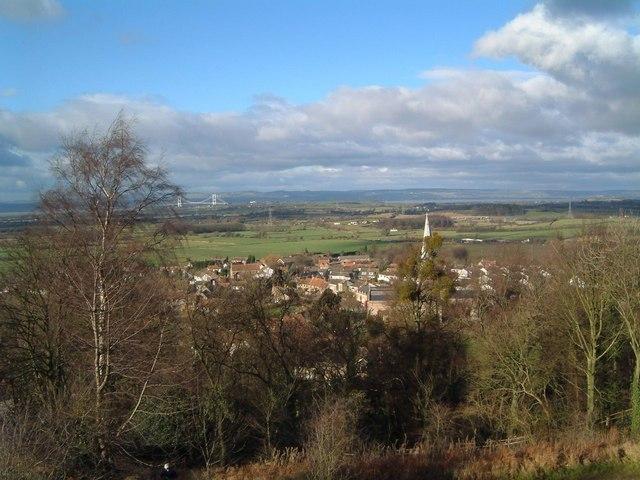 Almondsbury Village and the Old Severn Bridge