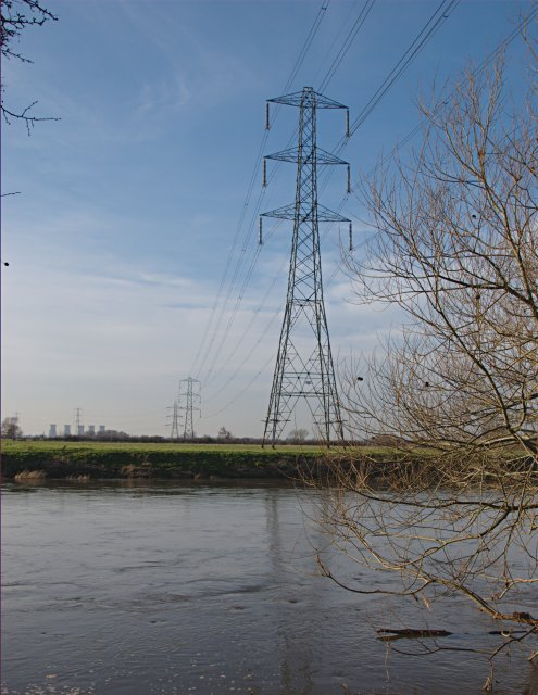 Power Lines crossing the Trent