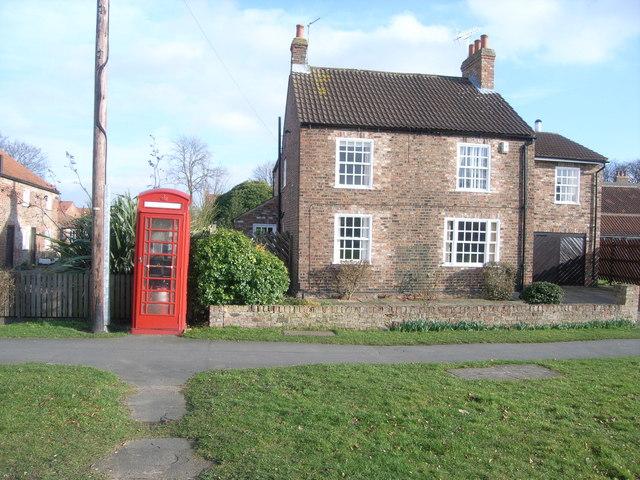 The telephone box in Upper Poppleton