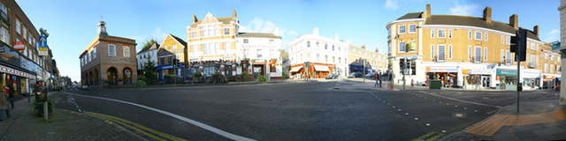 Panorama of Reigate Town Centre
