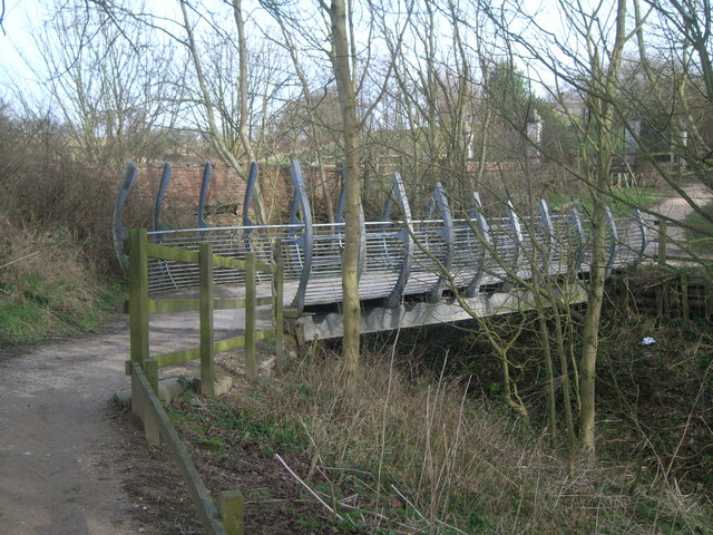 Bridge across stream in a ravine near Highcliffe Manor
