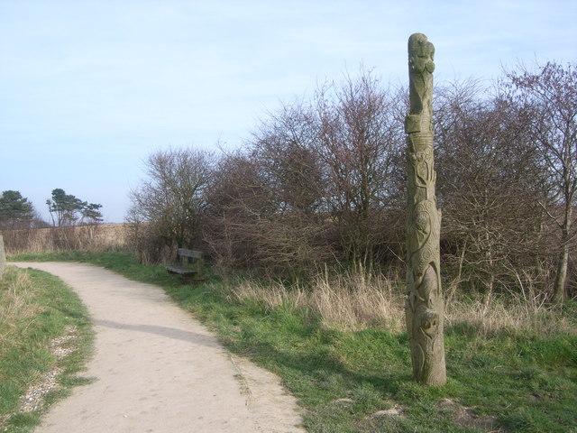 Flamborough Head - South Landing sculpture