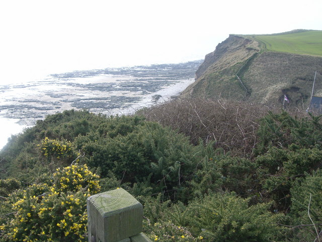 Looking down to South Landing, over RNLI Lifeboat station