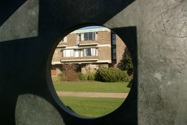 View through Four-square walk-through, Barbara Hepworth, 1966
