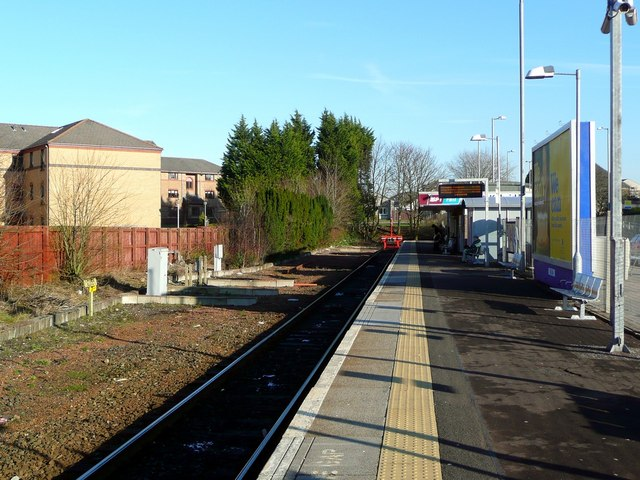 East Kilbride station, empty of trains