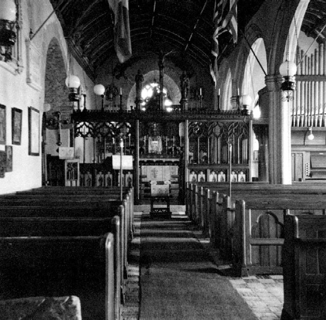 Interior of St Bridget's Church, Bridgerule