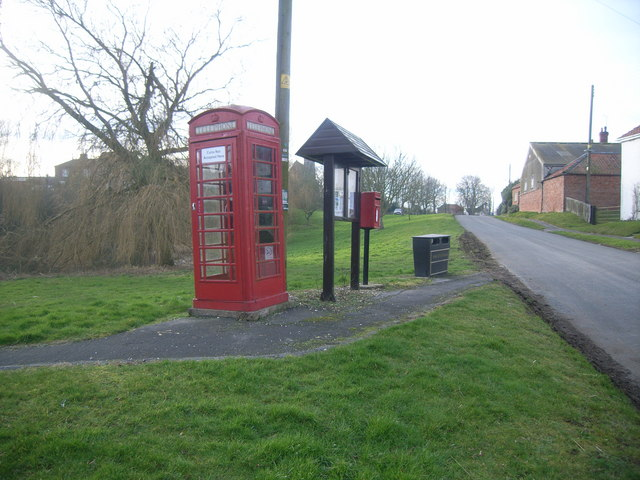 Telephone Box, on the green at Fimber