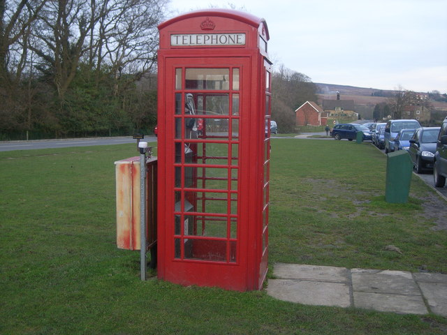 Goathland telephone kiosk, outside Aidensfield Stores