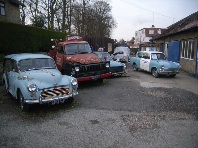 Scripp's Garage - collection of old vehicles in Goathland