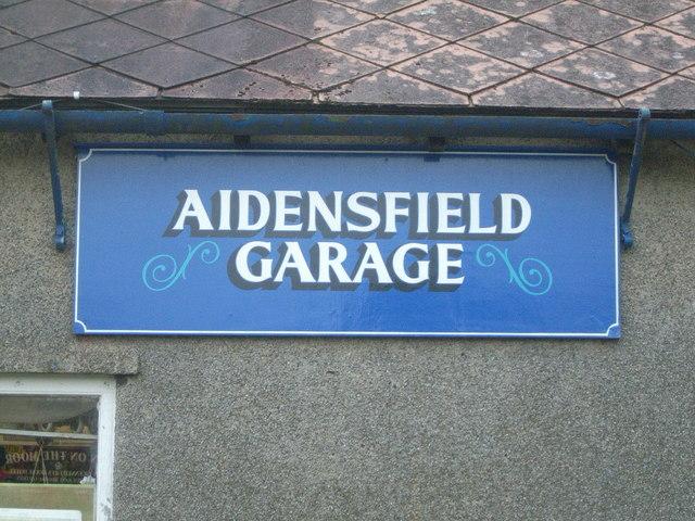 Aidensfield Garage sign