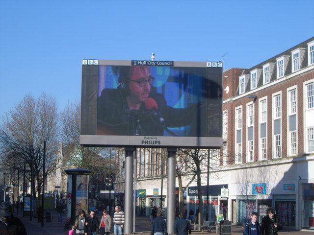 King Edward Street with BBC screen