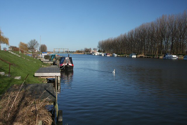 Landing stages on the Great Ouse