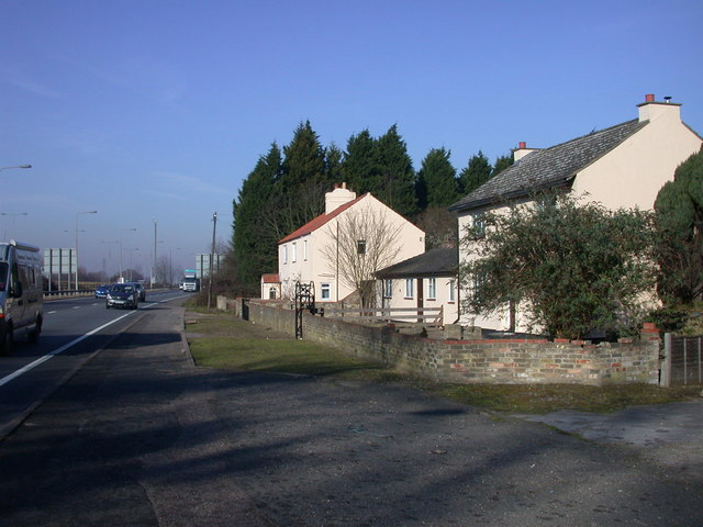 Houses by the A14