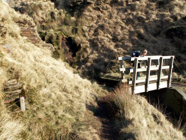 Sike Clough footbridge