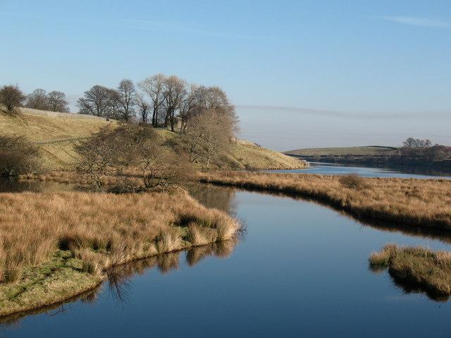 The head of Blackton Reservoir