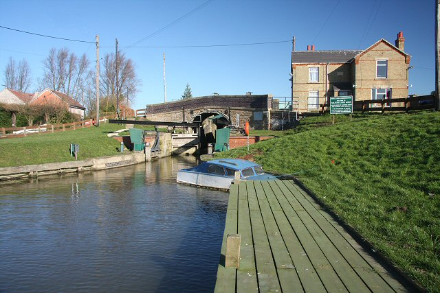 Salters Lode bridge and lock