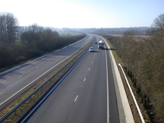 Cambridge Northern Bypass looking SW