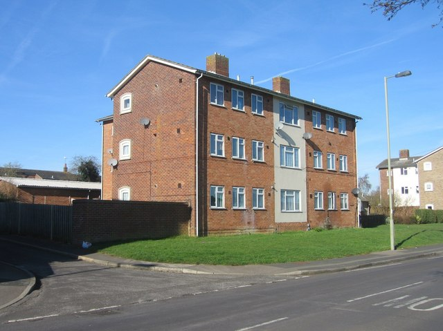 Flats overlooking Bishop Challoner school