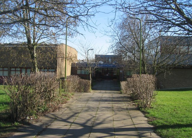 Entrance to Bishop Challoner School