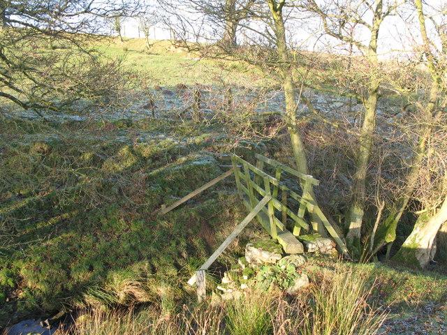Footbridge over sike near Crowberry Hall