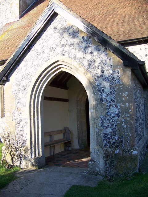 Porch, St Andrew's Church, Meonstoke