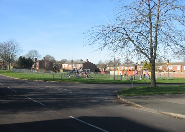 Kids playground on the corner of Bardwell Close