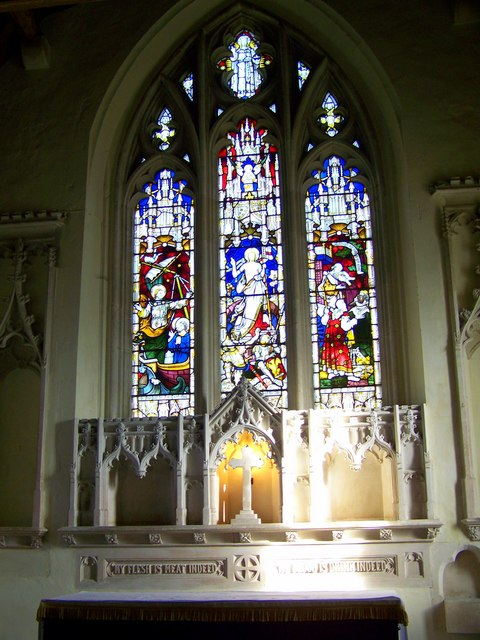 Stained glass window, St Andrew's Church, Meonstoke